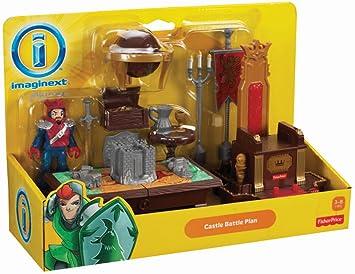 8x Actionfigur Fisher-Price Imaginext Bravemore Castle Ritterburg Playset Set