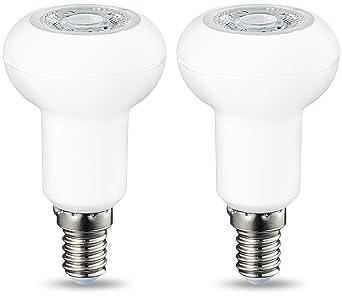 AmazonBasics Bombilla LED R50 E14, 3.5W (equivalente a 40W), Blanco Cálido