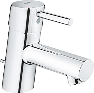 Grohe 34702001 Concetto Single Handle Bathroom Faucet Xs Size With Drain Assembly In Starlight
