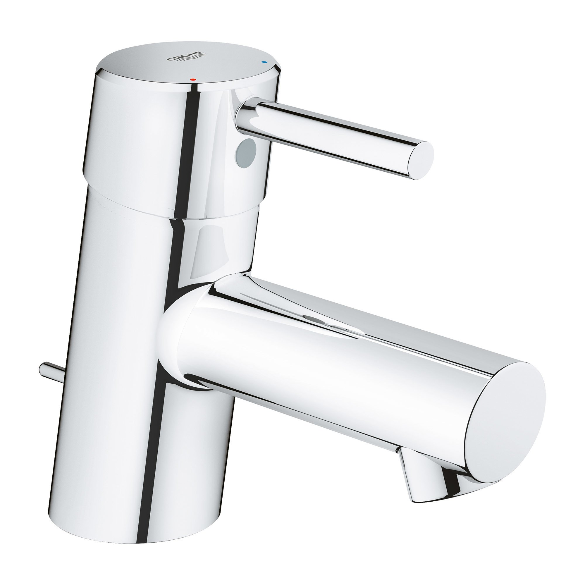 GROHE 34702001 Concetto Single-Handle Bathroom Faucet, Starlight Chrome