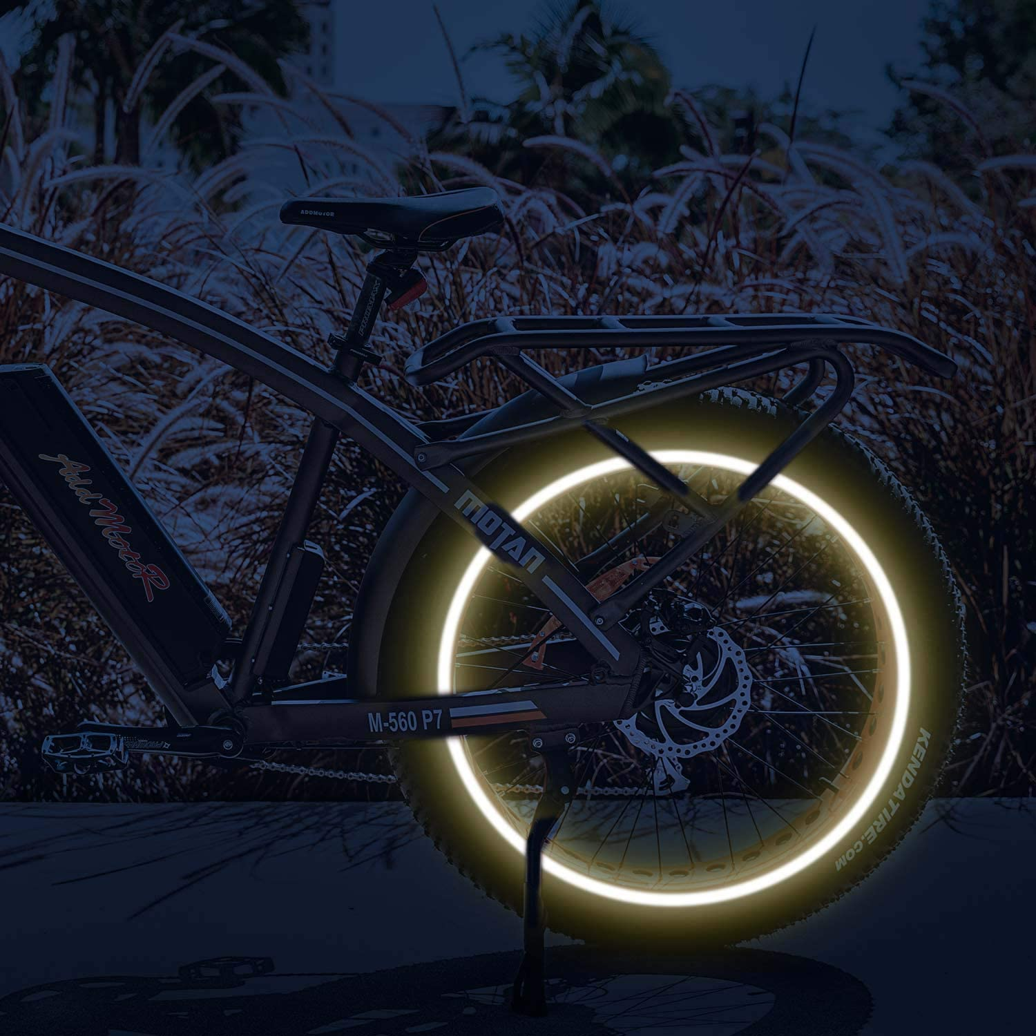 Addmotor Bike Wheel Rim Stickers Stripes 3M Reflective Decals Tape Reflector for Bicycle Motorcycle Decoration