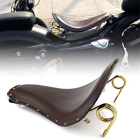 Leather Solo Seat 3/'/'Gold Spring Bracket Kit Fit For Harley Sportster Chopper