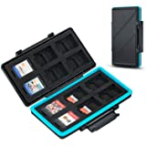 36 Slots Memory Card Storage Water-Resistant Anti-Shock Memory Card Case for 24 Micro SD SDXC SDHC TF Cards and 12 NS…