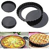 Bulfyss Bakeware Pie Dish Tart Pan With Removable Bottom, 20cm