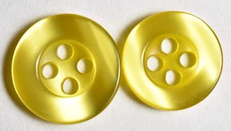 Juego de 24 botones para camisa de vestir, 16 botones frontales de camisa de 13 mm, 8 botones de manga de camisa de 11,5 mm: Amazon.es: Hogar