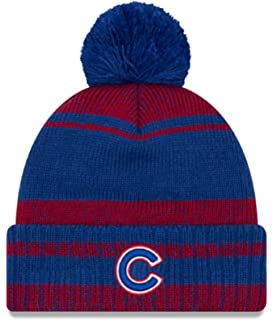 32f3c517809 New Era Authentic Chicago Cubs Glacial Pom Sport Knit MLB Beanie Unisex Hat