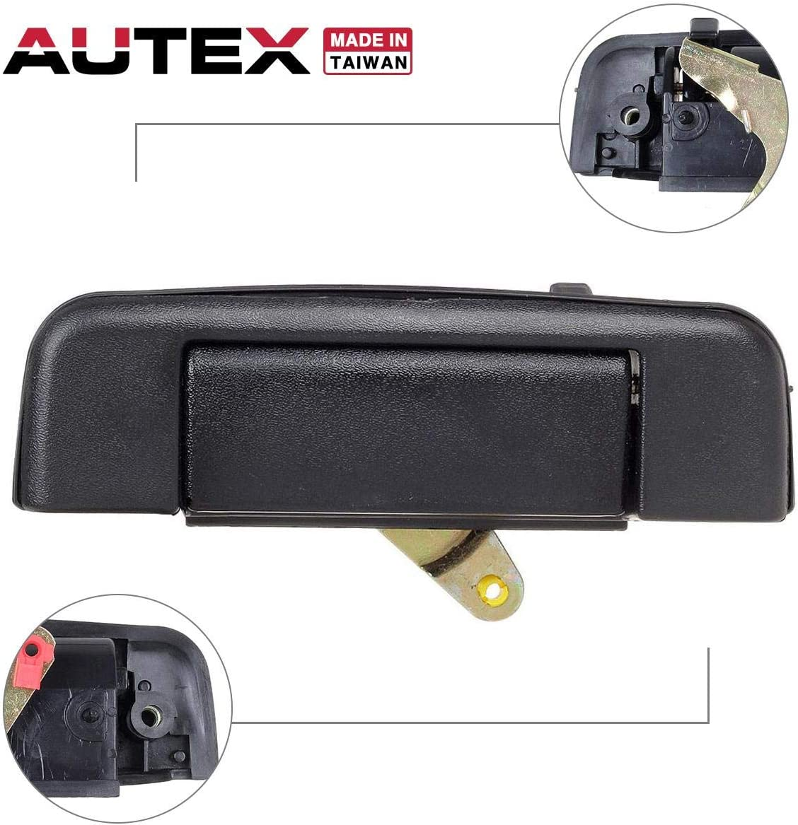 6909089102 AUTEX 1pcs Tailgate Lift Tail Gate Rear Latch Cargo Hatch Door Handle Compatible with Toyota Pickup 1989 1990 1991 1992 1993 1994 1995 77103 69090-89102 TO1915101