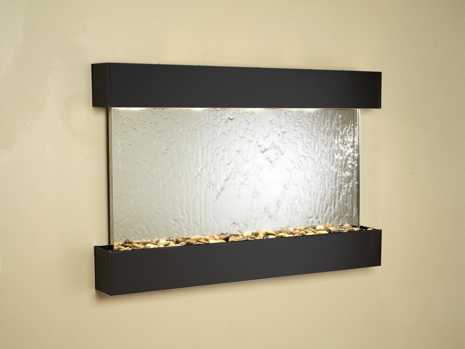 Adagio Sunrise Springs Fountain w/ Silver Mirror in Blackened Copper Finish