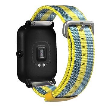 wawer Reloj Deportivo Para Nylon pulsera para Xiaomi huami amazfit Bip jugenduhr 19 * 2 *