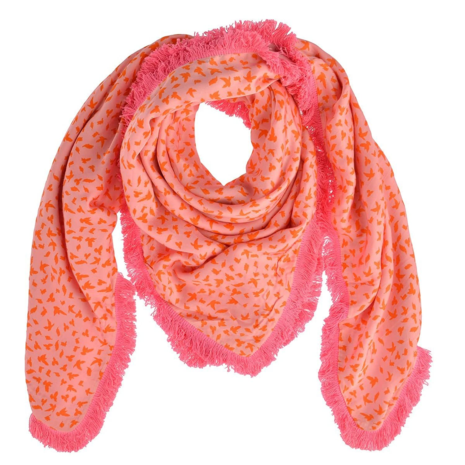 cute stuff Doubleface Tuch Lara in Pink/Orange