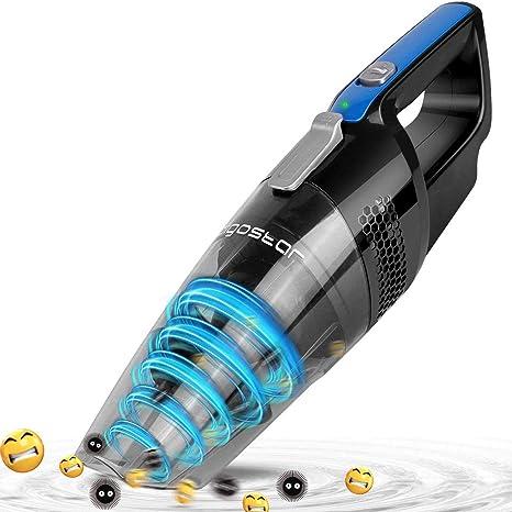 Aigostar Mercury 33LBY - Aspirateur cyclonique à main sans fil. Aspiration sec et humide. Réservoir 500ml,7.2V,filtre HEPA. Fonctionnement continu pendant 18 minutes.