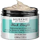 Nuskhe By Paras Neck Bright Whitening & Dead Skin Remover Body Scrub For Neck & Nape With Vitamin C & Radish For Women & Men, 200 g