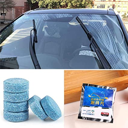 Oikiler Limpiador de vidrios de Autos sólidos Limpiador de limpiaparabrisas Concentrado tabletas efervescentes Cuidado de Coche