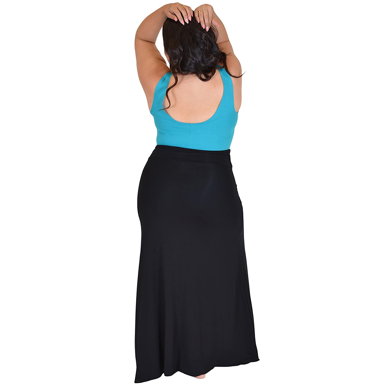 b2abe1a39f Stretch is Comfort Women's Plus Size Long Flowy Skirt at Amazon Women's  Clothing store: