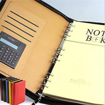 LifeUp - Cuaderno de negocios multifunción de piel y ...