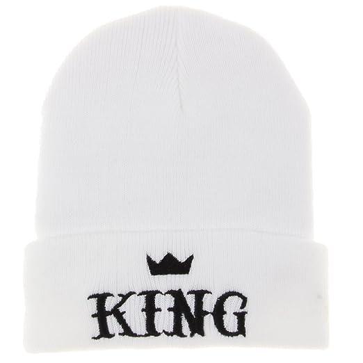 ca44891a2df Amazon.com  King Winter Knit Beanie Hat Men Women Winter Cap Skully ...