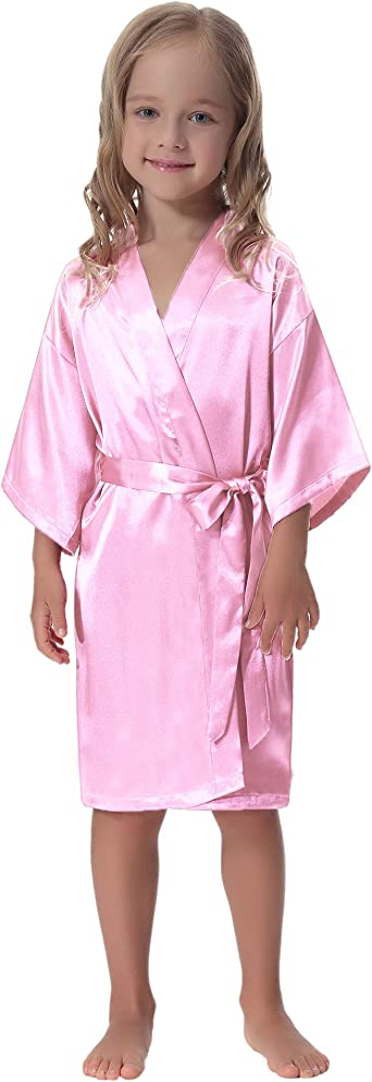 Flower Girl Outfit Bridesmaid Robes Floral Robes Kid Wedding Robe Little Girl Robe Flower Girl Gift Satin Flower girl robes