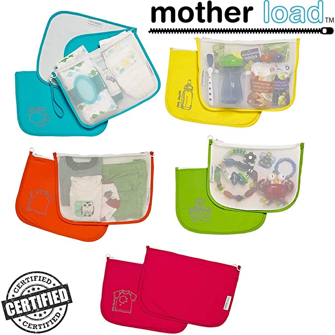 Sugarbooger Diaper Bag Organizer Pouches 100/% Cotton MYTODDLER New