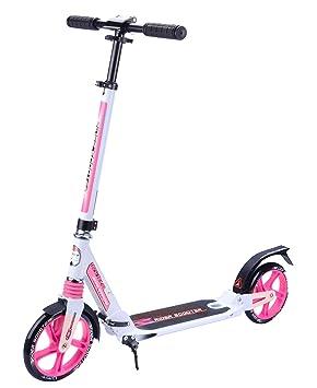 Umit Rider Patinete Aluminio, Niñas, Blanco/Rosa, M: Amazon ...