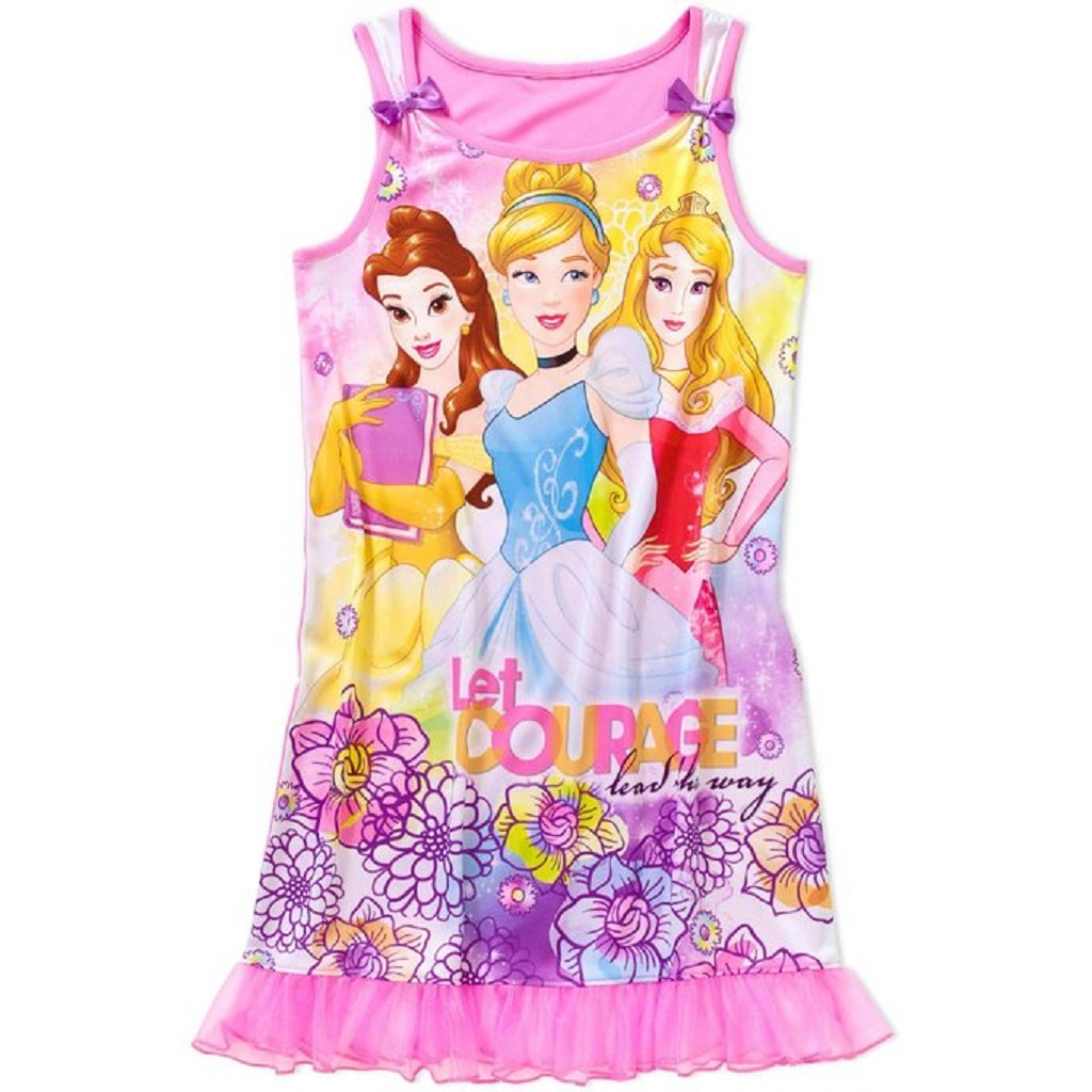 Disney Princess Girls Nightgown 4-16 Pink) 00-R49HVK-GA