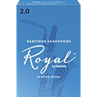 Royal by D'Addario Baritone Sax Reeds, Strength 2.0, 10-pack