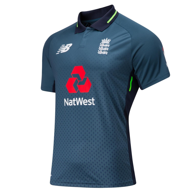 New Balance ECB Replica ODI Short Sleeve MenÔÇÖs Cricket Polo Shirt CMT8002-NOS
