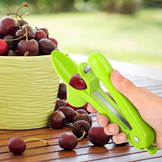 Cherry Pitter, GLIN fácil de quitar Core Cherry Pitter herramienta ...