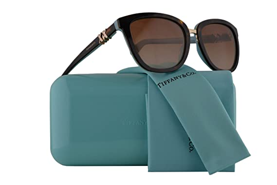 919f3171a39 Image Unavailable. Image not available for. Color  Tiffany   Co. TF4123  Sunglasses Havana ...