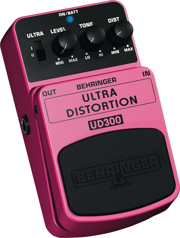 Behringer UD300 - Pedal de distorsión para guitarra, color rosa: Amazon.es: Instrumentos musicales