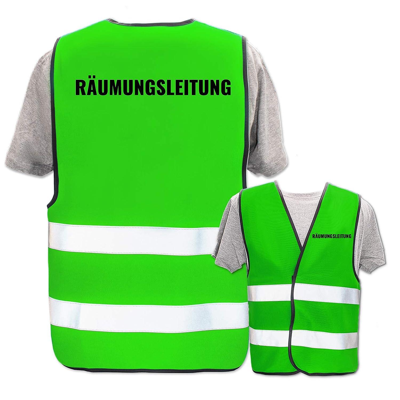 Farbe Gr/ö/ße:Gelb M//L Bedruckte Warnwesten mit ISO-Leuchtstreifen * Standard- oder Reflex-Druck * Erste Hilfe und Brandschutz Begriff:Brandschutzhelfer