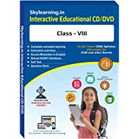 Skylearning CBSE Class 8 CD/DVD Combo Pack (English, Maths, Science, Hindi Vyakaran, Computer, French, Let's Learn French Phonics, Sanskrit)