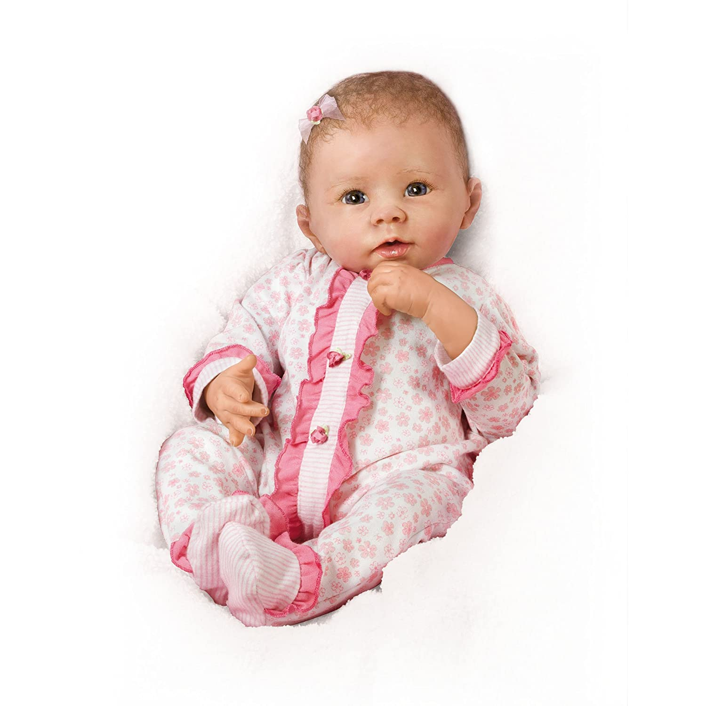 Ashton Drake 'Katy' - Poseable Lifelike Baby Doll - Breathes Coos and Has a Heartbeat - RealTouch Vinyl Skin