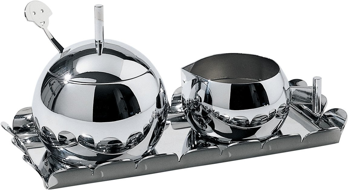 Alessi AM19'' Anna Sugar and Cream Set, Silver by Alessi (Image #1)