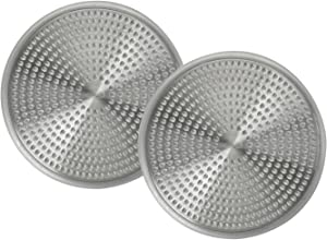 OXO Good Grips Easy Clean Shower Stall Drain Protector - Stainless Steel & Silicone (2, A)