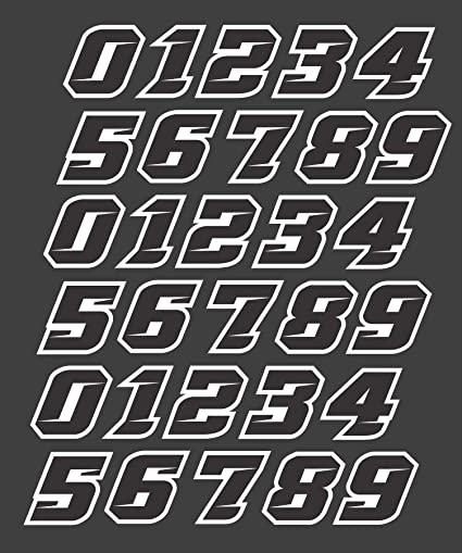 100 Stickers Football, Lacrosse, Baseball, Softball, Hockey Number Decals for Helmets