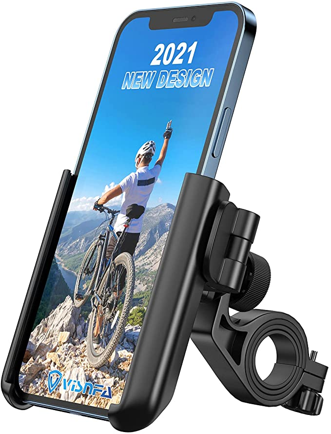 Visnfa Upgraded Bike Phone Mount Anti Shake and Stable 360° Rotation Adjustable Universal Bike Accessories/Bike Phone Holder for Any Smartphones GPS Other Devices Between 3.5 and 7.0 inches   Amazon