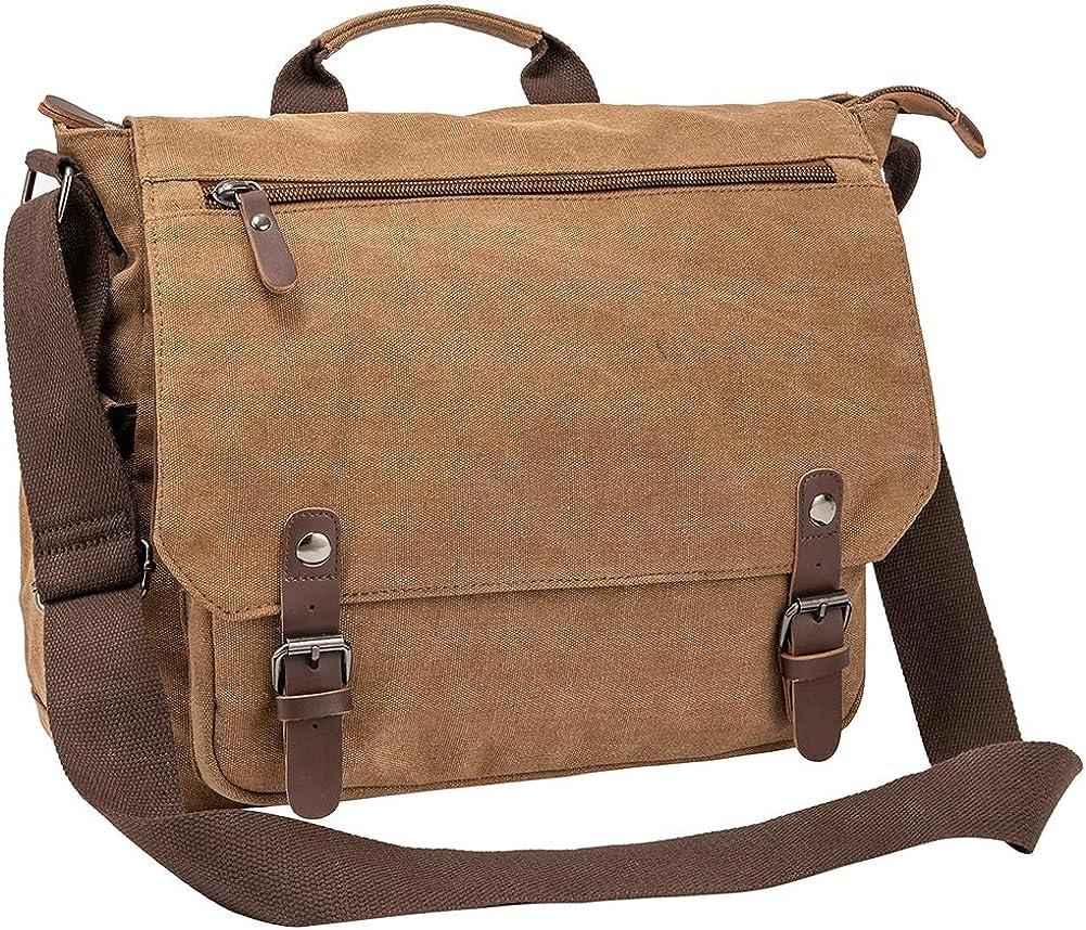 "Waterproof Waxed Canvas 15"" Macbook pro/ 14'' Laptop Messenger Bag Men Business Vintage shoulder bag/Briefcase"