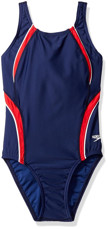 Speedo Women's Youth Taper Splice Pulse Back Swimsuit Speedo Swimwear 8191645-962-22
