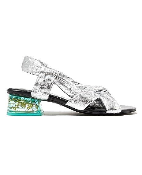 Bimba y Lola - Sandalias de vestir para mujer multicolor, color, talla 39 EU | 8 US | 6 UK: Amazon.es: Zapatos y complementos