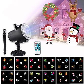 Proyector LED Navidad morease Proyector LED luces de decoración ...