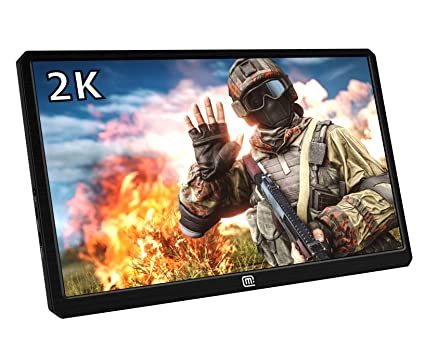 13 3 Inch Portable Gaming Monitor, 2K Resolution IPS LCD Display,HDR,USB C  and Hdmi Video Input,Ultralight and Slim, Built-in Speakers, Compatible