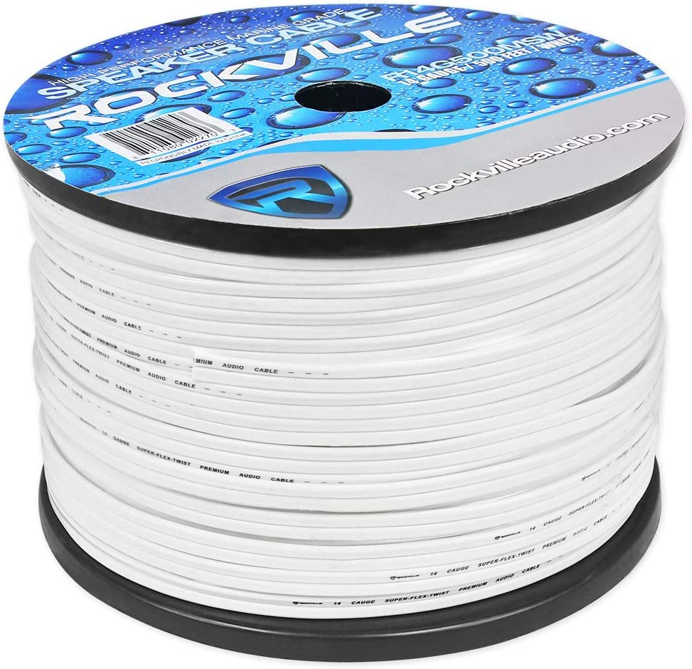 B00KDWPM4O Rockville R14G500MSW 500 Foot Spool Marine Waterproof 14 AWG Speaker Wire White 71ZlpKsrDUL