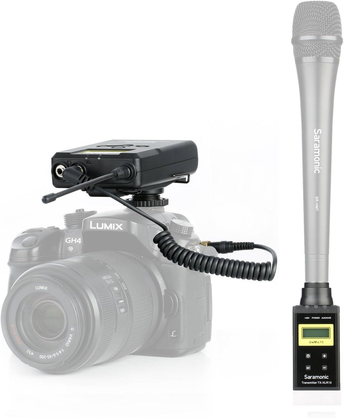 per notizie Raccolta e rapporti Saramonic UwMic15B Sistema professionale wireless digitale UHF portatile per microfono XLR intervista regista