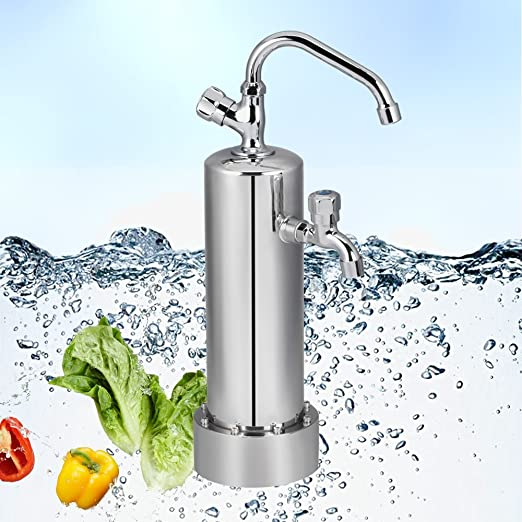Gosoit Agua limpiador filtro con dos grifos Sistema de filtro ...