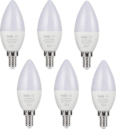 Amazon.com: Bombilla LED Tento de 12 V E12 12 V 5 W lámpara ...