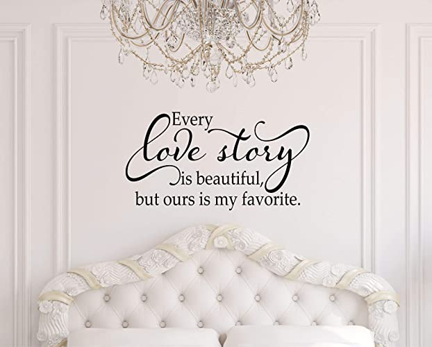 Amazoncom Bedroom Decal Every Love Story Is Beautiful Wall - Beautiful-wall-stickers-to-decorate-your-house