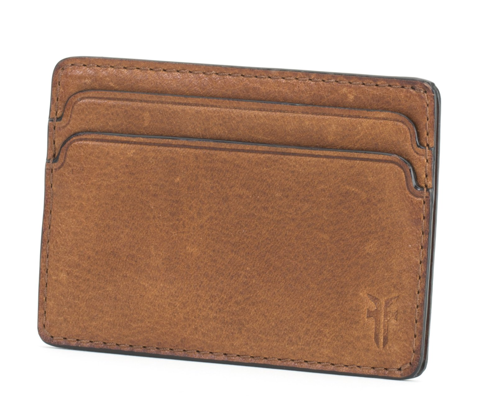 FRYE Men's Oliver Id Card Case, Cognac, One Size
