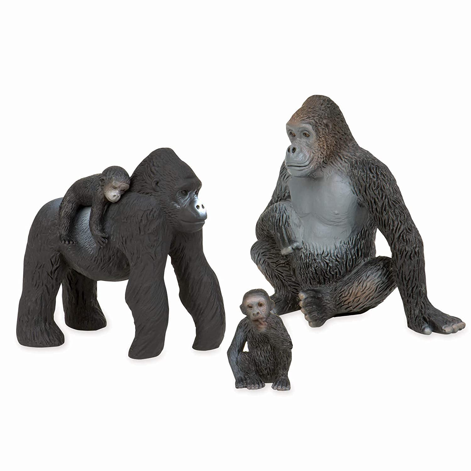 Terra by Battat AN2729Z Gorilla Family Playset
