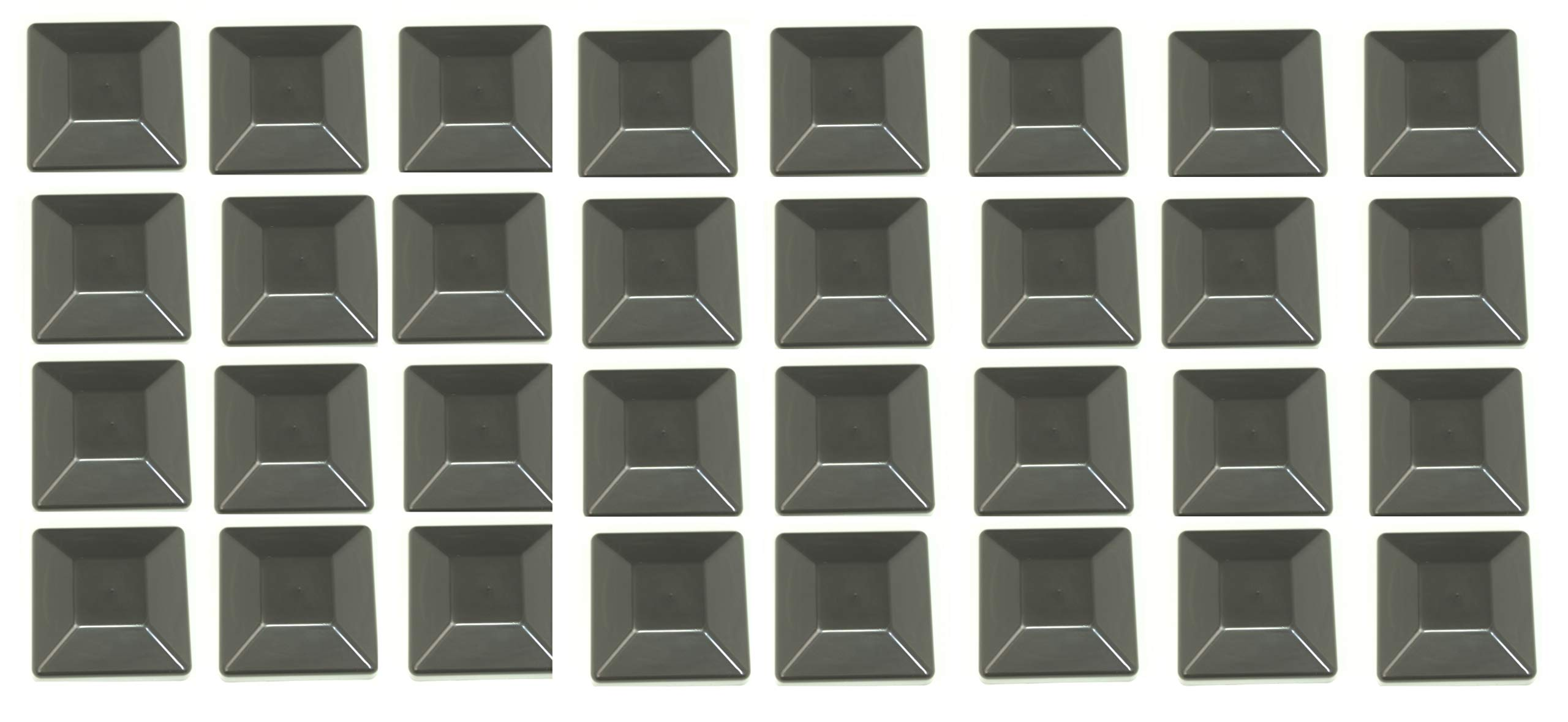 Plastic New Fence Post Black Caps 4X4 (3 5/8'') Pressure Treated Wood Made in USA (32 Pack) by JSP Manufacturing