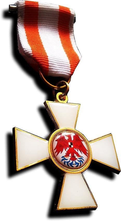Medallas militares Medalla Militar Orden del Águila Roja Primera Clase Prusia Medalla Militar WW1 Réplica Alemana: Amazon.es: Deportes y aire libre